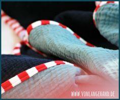 Babydecke aus Musselin nähen – tutorial von Lange Hand