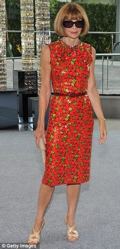 Anna Wintour at CFDA awards in Marc Jacobs Resort2013