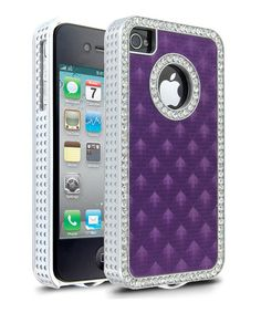 Take a look at this Purple Diamond Case for iPhone 4/4S by Cellairis on #zulily today!