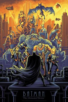 Batman The Animated Series Variant Print Dan Mumford Bottleneck NYCC Pre-Order Batman Poster, Batman Artwork, Batman Wallpaper, Batman Comic Art, Gotham Batman, Batman Robin, Robin Superhero, Heroes Comic, Hd Wallpaper
