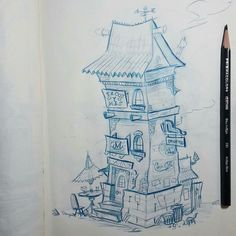 Here's an interesting #architecture #pencildrawing by Andy Estrada (@andy_estra) of a taco restaurant that appears to be a bit down on its luck. Known much more for his expressive and unique character designs and sketches Andy's IG posts typically include anthropomorphic animals with facial expressions gestures and poses that remind us of classic cartoon masterpiece magic... the characters are obviously animals but you can see the human emotions painted (or sketched) on their face and the…