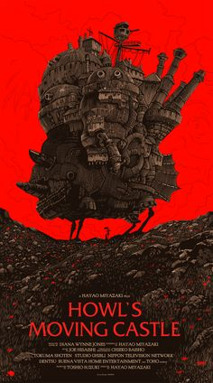 Spirited Away and Howl's Moving Castle Posters by Olly Moss from Mondo