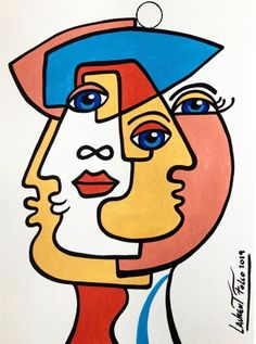 Pop Art Drawing, Art Drawings, Art Picasso, Art Sur Toile, Cubist Art, Abstract Face Art, Hippie Painting, Indian Art Paintings, Creative Artwork