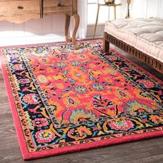 Shop for nuLOOM Vibrant Floral Persian Pink Rug (4' x 6'). Get free shipping at Overstock.com - Your Online Home Decor Outlet Store! Get 5% in rewards with Club O!