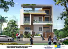 Oustanding Modern Home Design FINAL FRONT VIEW , #Design #final #front #home