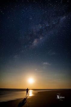Watching the World Go By  One quiet night, my 2 friends and I wandered onto the empty beach and witnessed something that had us completely in awe...  #travel #adventure #milkyway #space