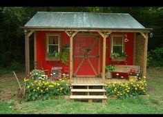 The country farm she shed