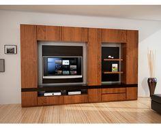 """Centro de entretenimiento Hilef """"Moderno""""Mueble muderno de excelente calidad.   El centro de entretenimiento consta de 2 espacios uno para la TV y otro para el DVD, fotos, cuadros, libros, o adornos personales.  Medidas: 2.20 x 2.20 x .40    Precio $25,770"""