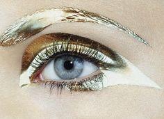#gold #shiny #makeup