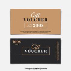 Minimalist gift vouchers Free Vector