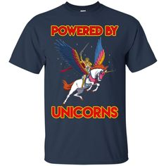 Unicorn T shirts Powered by Unicorns Hoodies Sweatshirts