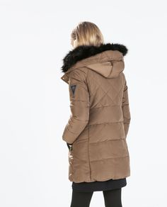 Image 3 of LONG PARKA WITH FUR COLLAR from Zara