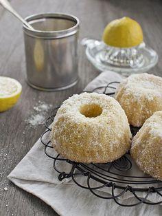 Mini Lemon Sugar Bundt Cakes , I love lemon recipes! Lemon Desserts, Lemon Recipes, Mini Desserts, Just Desserts, Cake Recipes, Dessert Recipes, Lemon Cakes, Cupcakes, Cupcake Cakes