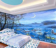 Custom Wall Murals, Mural Wall, 3d Wallpaper, Environment, Tapestry, Moon, Illustration, Frame, Nature