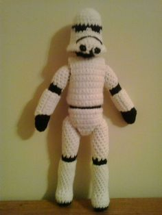 I was asked to make a doll of a Storm Trooper.  I looked all over the Internet to find a pattern.  The only patterns that I found were on...