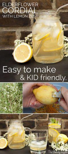 Delicious elderflower cordial. Easy to make. Long shelf life and freezer friendly.