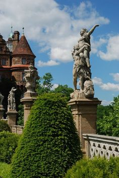 Ksiaz Castle Gardens Poland..... Here you relax with these backyard landscaping ideas and landscape design. #Relax more with this #free #music with #BinauralBeats that can #heal you: #landscaping #LandscapingIdeas #landscapeDesign