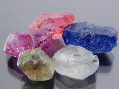Sapphires: Blue, Pink, Purple, Yellow and White