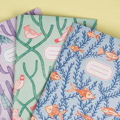 Close up on some beautiful Kristyna Baczynski designed notebooks! Like them? Please pin! Read more: http://awsmr.ch/NoteBookz