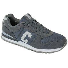 Herren Sportschuhe Crosshatch Sneakers Schuhe mit Schnürsenkel Wildleder Rennschuhe Netz Designer Neu - Kohlengrau - HADDEN, Leder und Stoff, 43 - http://on-line-kaufen.de/crosshatch/43-eu-herren-sportschuhe-crosshatch-sneakers-mit-2