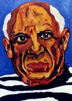"Saatchi Online Artist CARMEN LUNA; Painting, ""30-PICASSO por Carmen LUNA. (74 años)"" #art   http://www.saatchiart.com/art-collection/Painting-Mixed-Media/PICASSO-por-Carmen-LUNA/71968/51466/view"