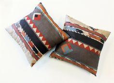 A Pair Of Southwest Design Print Pillows.    www.EagleDancerGallery.com