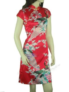 Rosa Mandarina Cuello De Satén de Seda Cheongsam Qipao Chino de La Novedad de Las Mujeres Atractivas Vestido de noche Vestido de Flores Tamaño Sml XL XXL L020-B