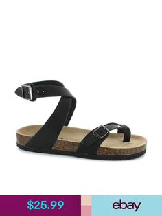 9902e6a7669 Outwoods Bork Double Buckle Sandals for Women in Black 21321-101 in ...
