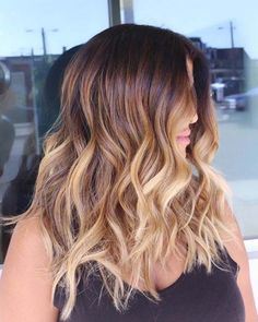 Balayage High Lights To Copy Today - Rings of Saturn - Simple, Cute, And Easy Ideas For Blonde Highlights, Dark Brown Hair, Curles, Waves, Brunettes, Natural Looks And Ombre Cuts. These Haircuts Can Be Done DIY Or At Salons. Don't Miss These Hairstyles! - https://thegoddess.com/balayage-high-lights-to-copy