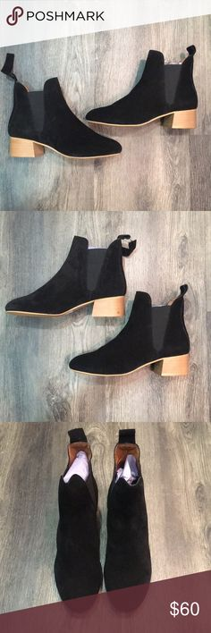Topshop Barley Booties *NWT* Beautiful black suede boots (brand new)  Euro SZ 38 but US SZ 7.5 Topshop Shoes Ankle Boots & Booties