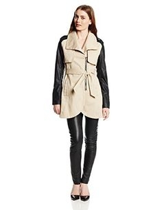 French Connection Women's Combo Tulip Trench Coat, Sand/Black, Large French Connection http://www.amazon.com/dp/B00GLK0DY6/ref=cm_sw_r_pi_dp_zur8vb1DT00VQ