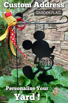 This cute yard decor can be customized with any address. Check-out the last name monogram options as well!