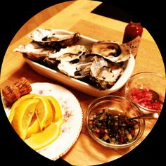 Oysters, lemon, onion salsa, chilli, white wine, mussels and a fantastic night in :)