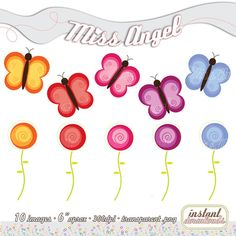 BUY 2 GET 1 FREE buy 4 get 2 free Butterflies by MissAngelClipArt