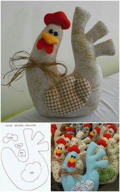 год петуха выкройки игрушек выкройка петуха курицы