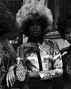 Style Pantry | Gorgeous Afros + Prints In Vogue Italia