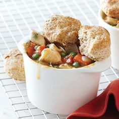 clean eating -- chicken pot pies