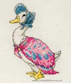 Jemima Puddle-Duck - Beatrix Potter Cross Stitch Kit