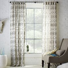 $63 Tali Printed Window Panel | west elm
