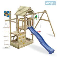 Spielturm Wickey John`s Multitower Spielturm mit Schaukel, Kletteranbau und Sandkasten
