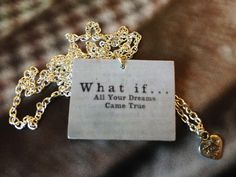 """Style with Mind necklace """"What if.."""" www.magne.ie"""