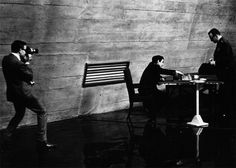 Peter Sellers captures Stanley Kubrick and George C. Scott mid-chess game behind the scenes of Dr. Strangelove or: How I Learned to Stop Worrying and Love the Bomb, 1964 Dr Strangelove, The Criterion Collection, Religion, The Great Escape, Columbia Pictures, Comedy Films, Stanley Kubrick, Actors, Taking Pictures