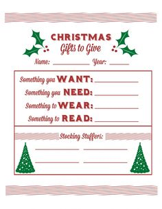 Printable Santa Wish List Amazing How We Do Christmas In Our Family  Christmas Gifts Free Printable .