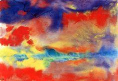 """lonequixote: """" Evening Landscape by Emil Nolde """""""