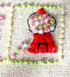 I love gum Sashiko Embroidery, Embroidery Sampler, Cross Stitch Embroidery, Embroidery Patterns, Hand Embroidery, Tambour Beading, Thing 1, Lesage, Thread Art