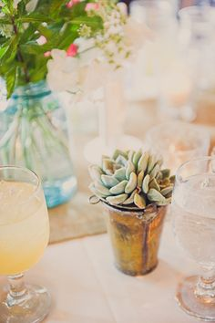 #succulent  Photography: dove and sparrow Photography - doveandsparrow.com/ Florals: Branch Design Studio - branchdesignstudio.com/index.html  Read More: http://www.stylemepretty.com/2012/06/13/charleston-south-carolina-wedding-by-dove-sparrow-photography/