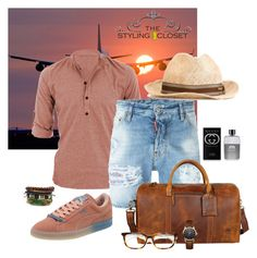 """""""My traveling guys!"""" by triced on Polyvore featuring Dsquared2, Puma, Gucci, Dior Homme, Vivienne Westwood, men's fashion and menswear"""