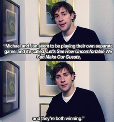 Dinner Party episode.  Such an amazingly awkward episode that shows Jan is unbelievably even more nuts than previously thought.  Jim and Pam, who didn't even want to go to start with but are tricked into it by Michael, are so uncomfortable you, as a viewer, can feel it.  This is a favorite of many but to be honest, I liked it but it's not in my most favorites.