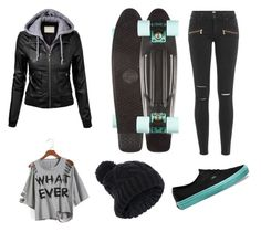 """""""Fall skating"""" by skylarrivera25 on Polyvore featuring Vans, Accessorize and Paige Denim"""