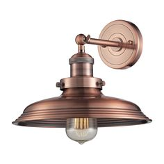 Newberry 1 Light Wall Sconce In Antique Copper 55030/1